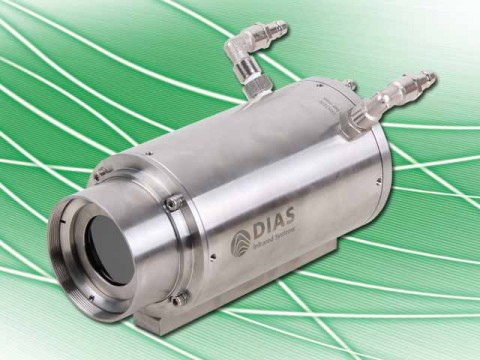 The DIAS PYROLINE infrared line camera in the robust industry protection housing for the non-contact temperature measurement.