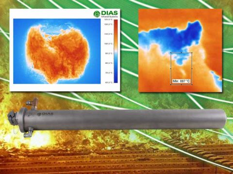 Infrared camera PYROINC from DIAS Infrared for non-contact temperature measurement in combustion chambers
